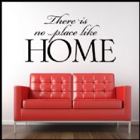 There is no place Like HomeFAMILY WORD ART ~ Wall sticker / decals